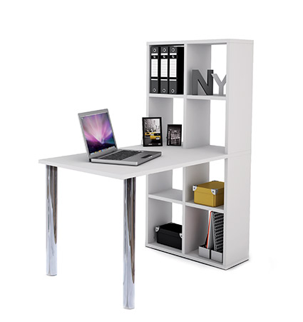 DESK WITH INTEGRAL WALL STORAGE LEXINGTON